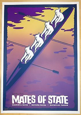 2006 Mates of State - Houston Silkscreen Concert Poster by Todd Slater
