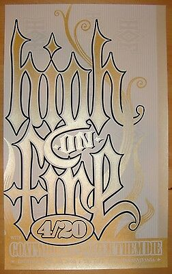 2006 High on Fire - Silkscreen Concert Poster S/N by Ken Adams