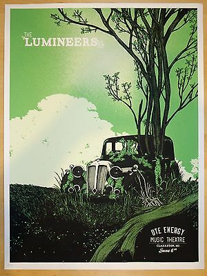 2013 The Lumineers - Clarkston Silkscreen Concert Poster by Erica Williams