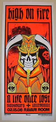 2008 High on Fire - Columbus - Silkscreen Concert Poster S/N Martin