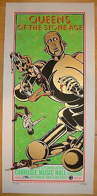 2007 Queens of the Stone Age - Pittsburgh Silkscreen Concert Poster s/n Stainboy
