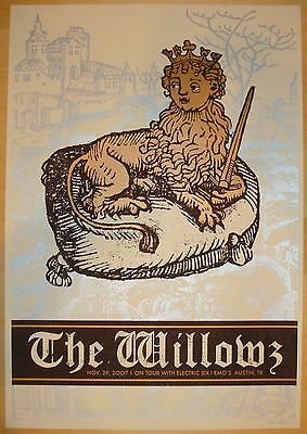 2007 The Willowz with Electric Six - Austin Concert Poster by Rob Jones s/n