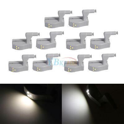 10X Warm/Cool White Hinge LED Light For Wardrobe Cabinet Cupboard Home Kitchen E