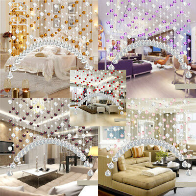1pc Crystal Glass Bead Curtain Luxury Living Room Bedroom Window Door Wedding