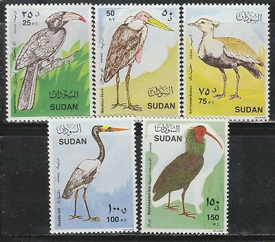 South Nubia #387-91 MNH 1990 Local Birds SUPERB!