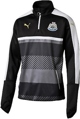Puma Newcastle United 2016/17 Half Zip Junior Training Top - Black
