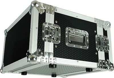 "CaseToGo 6RU 19"" effects rack case flightcase - 350mm sleeve depth"