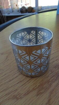 PARTYLITE Enchanted Tealight Holder Silver