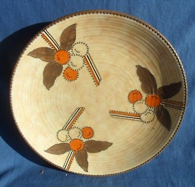 "Charlotte Rhead 12 1/2"" Plaque with Autumnal Colours"