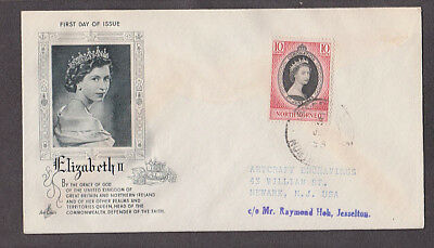 North Borneo - 1953 1st day art craft cacheted coronation cover