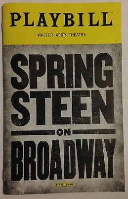 Bruce Springsteen On Broadway Playbill New York City Walter Kerr Theatre