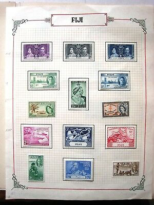 Page Of Fiji Mint Stamps