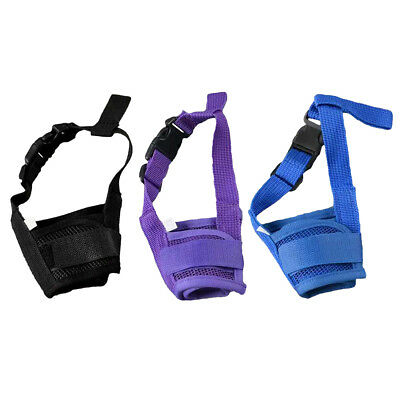 Dog Pet Safety Adjustable Breathable Muzzle Stop Biting Barking Nipping Chewing