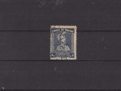 COLOMBIA , 1934, SG453 TYPE 144 8c BLUE, USED