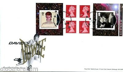 2017 David Bowie Great Britain Self Adhesive Booklet Royal Mail Fdc Vgc