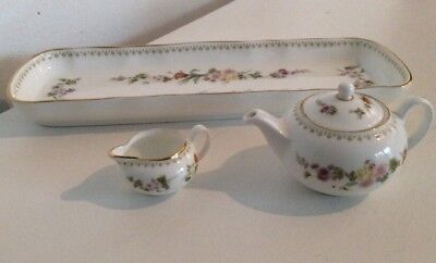 wedgewood mirabelle Miniature Tea Pot And Jug With Long Tray