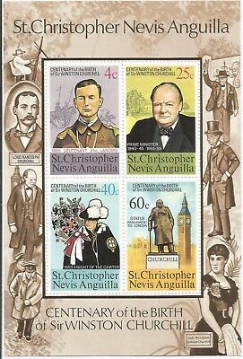One Penny Arcade A Nice St.Christopher 1974 Churchill MNH MS