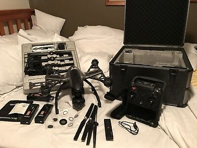 Yuneec Q500 Drone 4K Camera CG03 In Carry Case Extras, Batteries Not Phantom