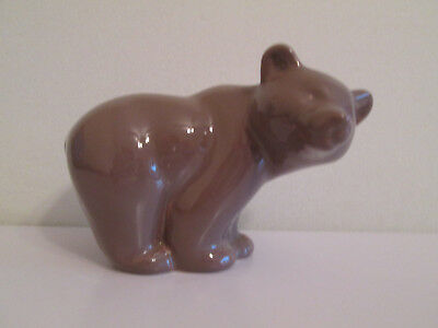 Rare Poole Pottery Bear Money Box With Stopper Greyish Colour