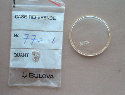 Bulova Accutron 770-1  Spaceview Crystal Glass GENUINE guaranteed New parts