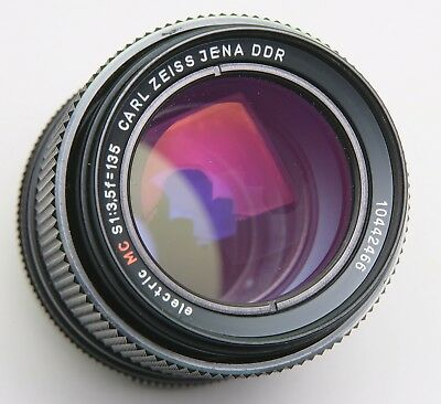 CARL ZEISS JENA DDR ELECTRIC MC S  f3.5/135mm PORTRAIT LENS - M42 SCREW MOUNT