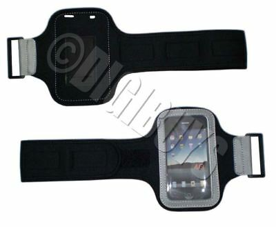 Black Armband for iPhone 4 4S Sports Gym case jogging UK
