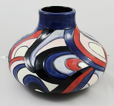 Lovely MIB Old Tupton Ware Tube Lined Vase by Jeanne McDougall 'Whirlwind'