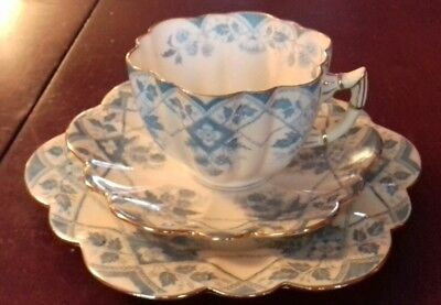 Fine Antique Wileman & Co. Foley ( Shelley ) Bone China Trio. #5. C1892.