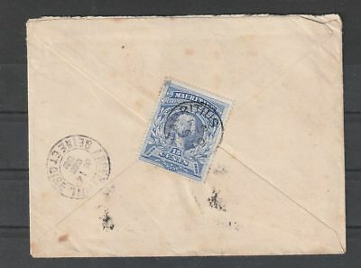 Mauritius 1900 Reunion a Marseille Lun 3 cover to France