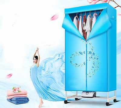 Blue Mute Portable Home Energy-saving Rotary Drying Electric Air Clothes Dryer