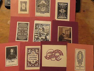 Vintage Ex Libris Job Lot ,10 pieces ****