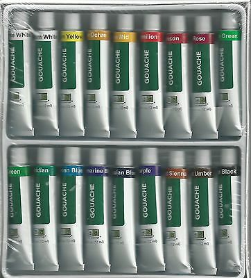 Gouache Paints ~ 18 Tube Paint Set ~ Free Shipping!!