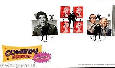 2015 Comedy Great Britain Self Adhesive Booklet Royal Mail Fdc B'ham Pmk