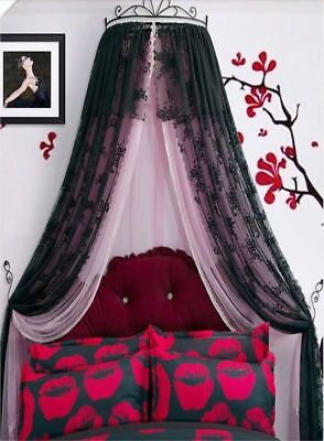 Double Size Pink Lace Ceiling Mosquito Net Bedding Bed Curtain Netting Canopy .