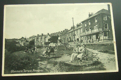 Postcard Real Photo, Wales, Glanmore Terrace, New Quay - Nice Pic