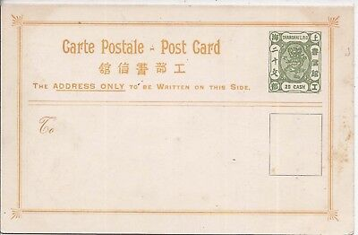 China Shanghai 1884 20c green Carte Postal stationery card unused