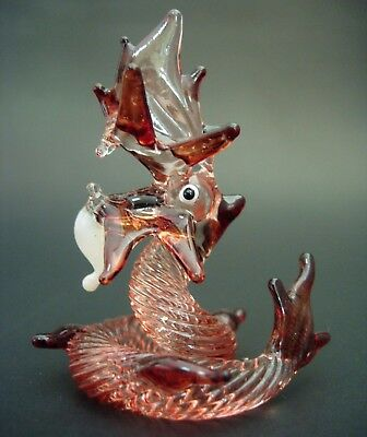 Glass DRAGON SERPENT Patterned Glass Ornament Mythical Creature Glass Animal