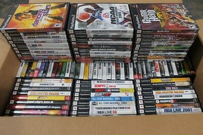 Huge Wholesale Lot 100 PS2 Playstation 2 Games