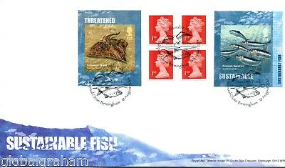 2014 Fish Great Britain Self Adhesive Retail Booklet Royal Mail Fdc