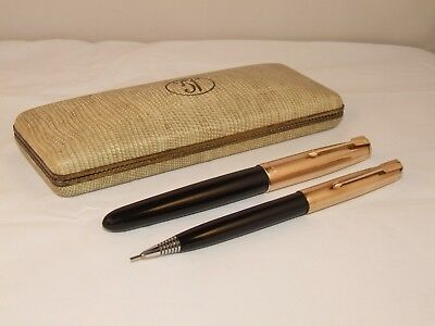 Vintage Parker 51 Custom Fountain Pen & Repeater Pencil Boxed Set - Superb