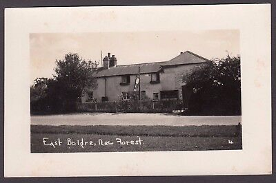 Postcard East Boldre nr Lymington New Forest Hampshire tea rooms RP early