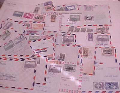 COSTA RICA  40   SMALL COVERS  1950's MOSTLY TO USA INCLUDES REGISTERED