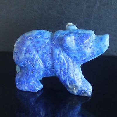 h36649  41mm Hand carved natural lapis bear figurine animal carving