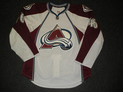 2012-13 Stefan Elliott Colorado Avalanche Game Used Worn Reebok Jersey! MeiGray