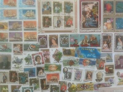 200 Different Penrhyn Stamp Collection
