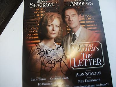 Jenny Seagrove Signed Flyer