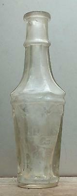 1860s-70s COLOGNE BOTTLE-Multi Faceted Flint Glass-F B S