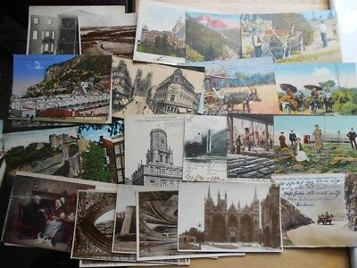 100 x vintage postcards, some RP, topographical, scenes many nice ones, job lot!