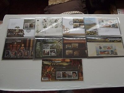 2009,Presentation Packs x 4 + Illustrated 1st Day Covers with Special Post Marks