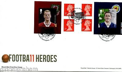2014 Football Great Britain Self Adhesive Retail Booklet Royal Mail Illus. Fdc